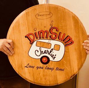 custom barrel top sign